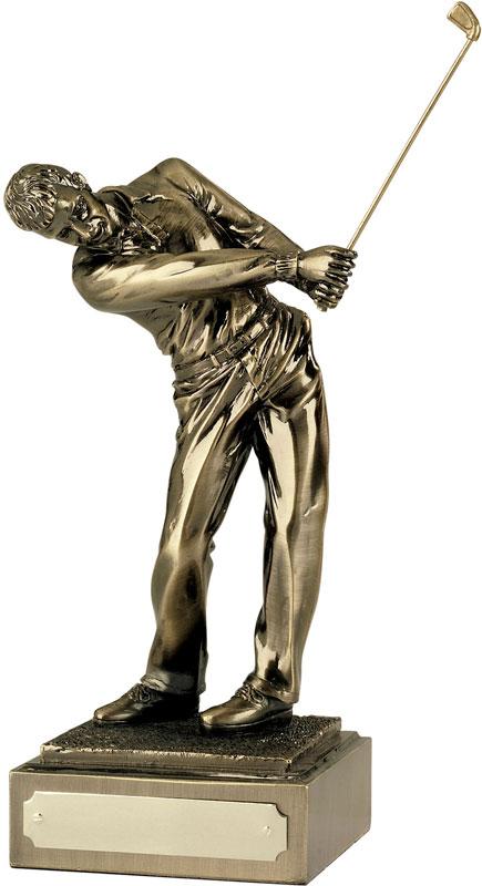 "Resin 'Follow Through' Golf Figure 15cm (6"")"