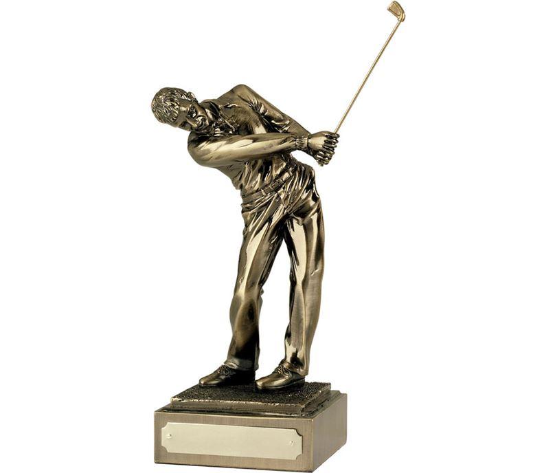 "Resin 'Follow Through' Golf Figure 25.5cm (10"")"