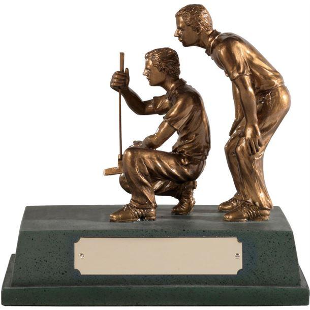 "Antique Gold Resin 'Golf Partners' Award 15cm (6"")"