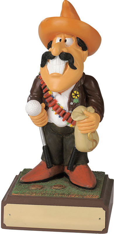 "Bandit - Large Hand Painted Novelty Golf Figure 20.5cm (8"")"