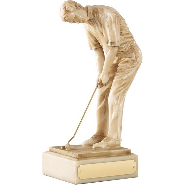"Resin Male Champion Golfer Ivory Finish 20.5cm (8"")"