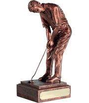 "Resin Figure Champion Copper Finish 20.5cm (8"")"