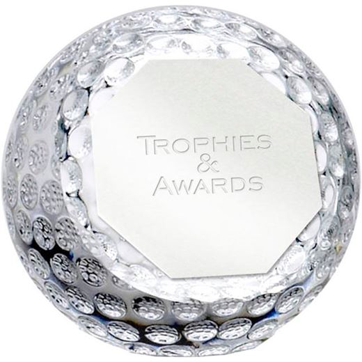 """Optical Crystal Golf Orb Paperweight 10cm (4"""")"""