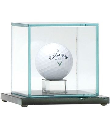 "Golf Ball Glass Display Case 10cm (4"")"