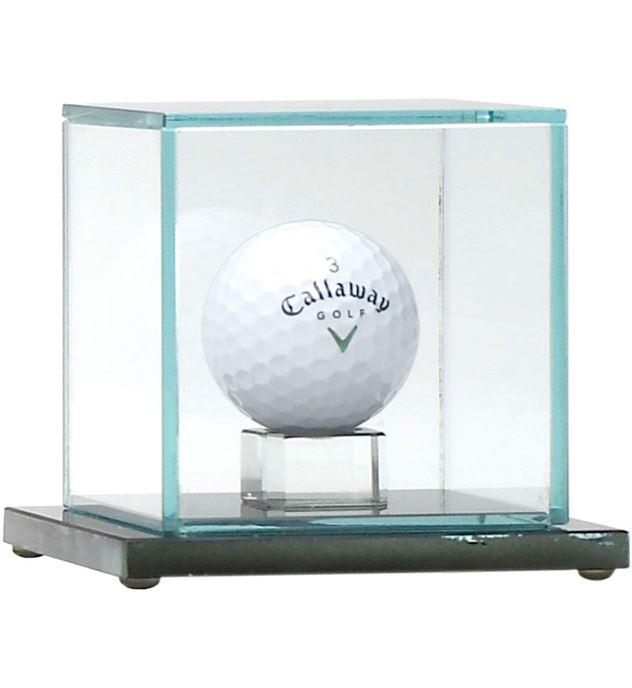 "Golf Ball Glass Display Case 10cm (4"")"