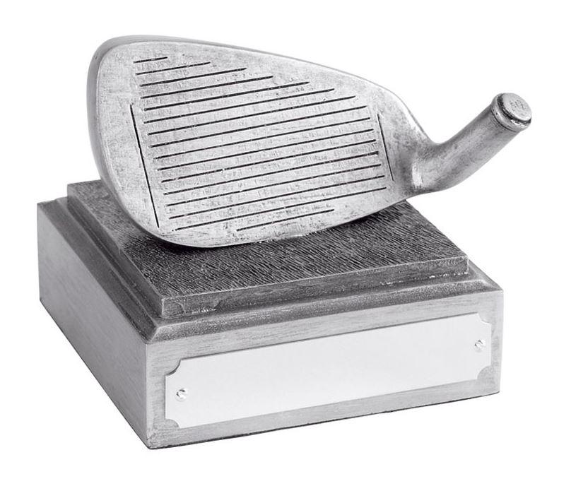 """Golf Club Iron Head Award Antique Silver Finish 8cm (3.25"""")"""