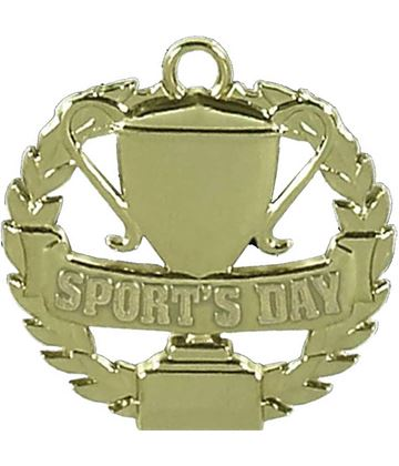 "Gold Sports Day Medal 50mm (2"")"