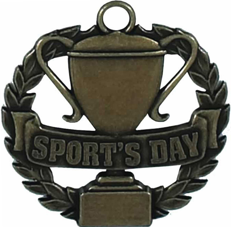 "Bronze Sports Day Medal 50mm (2"")"