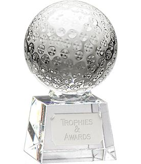 "Glass Golf Ball Award on Thick Glass Base 9.5cm (3.75"")"