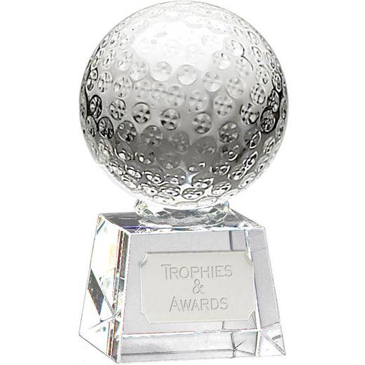 "Glass Golf Ball Award on Thick Glass Base 13.5cm (5.25"")"