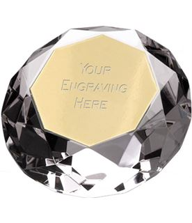 "Clarity Diamond Paperweight Award 10cm (4"")"