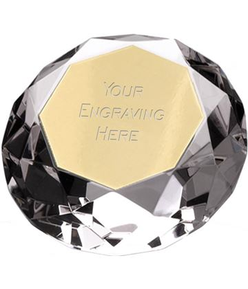 "Clarity Diamond Paperweight Award 7.5cm (3"")"