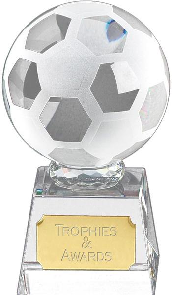 "Football mounted on Glass Award 9.5cm (3.75"")"