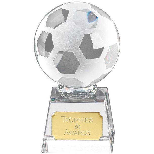 "Football mounted on Glass Award 13.5cm (5.25"")"