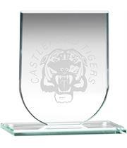 """Jade Glass Shield Plaque 9.5cm (3.75"""")"""