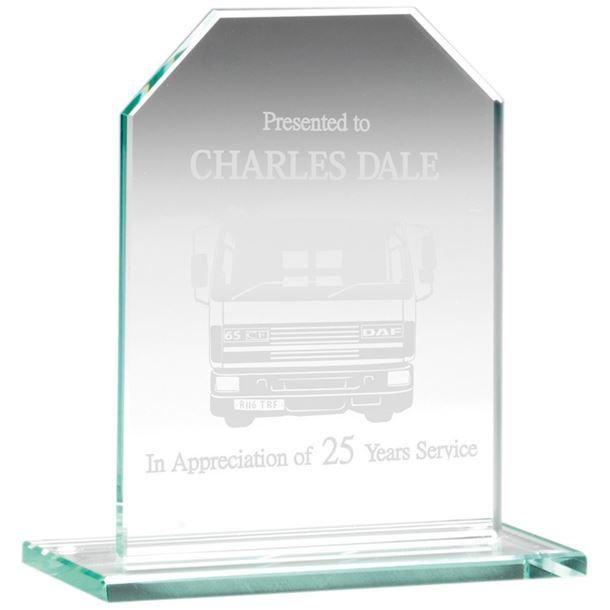 """Jade Glass Rectangle Plaque 9.5cm (3.75"""")"""