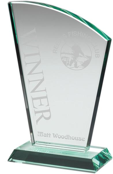 """Flair Plaque Jade Glass Award 19.5cm (7.75"""")"""