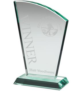 "Flair Plaque Jade Glass Award 15cm (6"")"