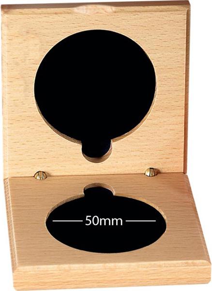 Wooden Medal Box 50mm Recess