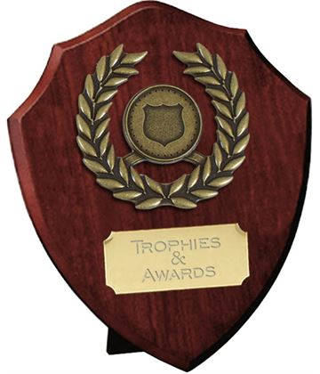 "Individual Shield with Laurel Wreath 10cm (4"")"