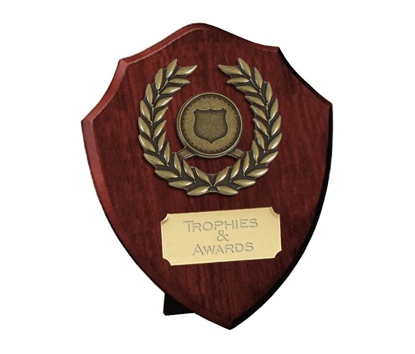 "Individual Shield with Laurel Wreath 15cm (6"")"
