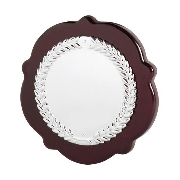 "Individual English Rose Laurel Wreath Shield 18cm (7"")"