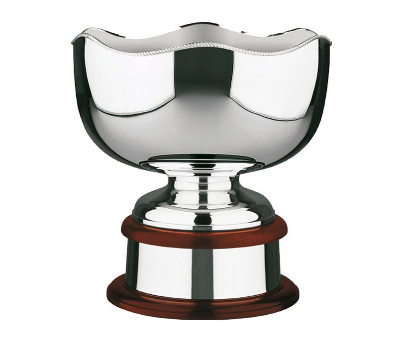"""Silver Plated Bowl with Scalloped Gadroon Edge 31cm (12.25"""")"""