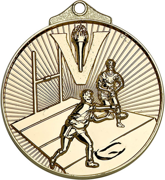 "Gold Horizon Rugby Medal 52mm (2"")"