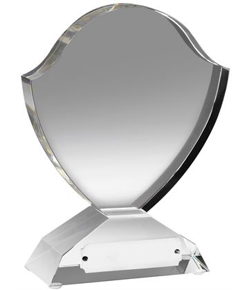 "Optical Crystal Shield Award 15cm (6"")"