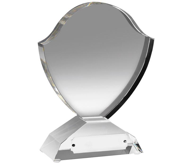 "Optical Crystal Shield Award 15cm (6"")"