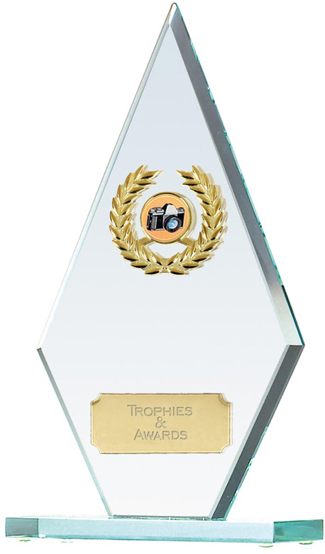 "Pointer Jade Glass Photography Award 25.5cm (10"")"
