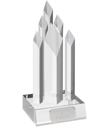 "Optical Crystal Multi Spire Award 20.5cm (8"")"