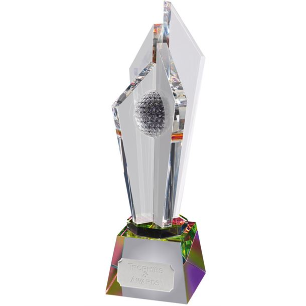 "Optical Crystal Golf Award with Light Refraction 30.5cm (12"")"
