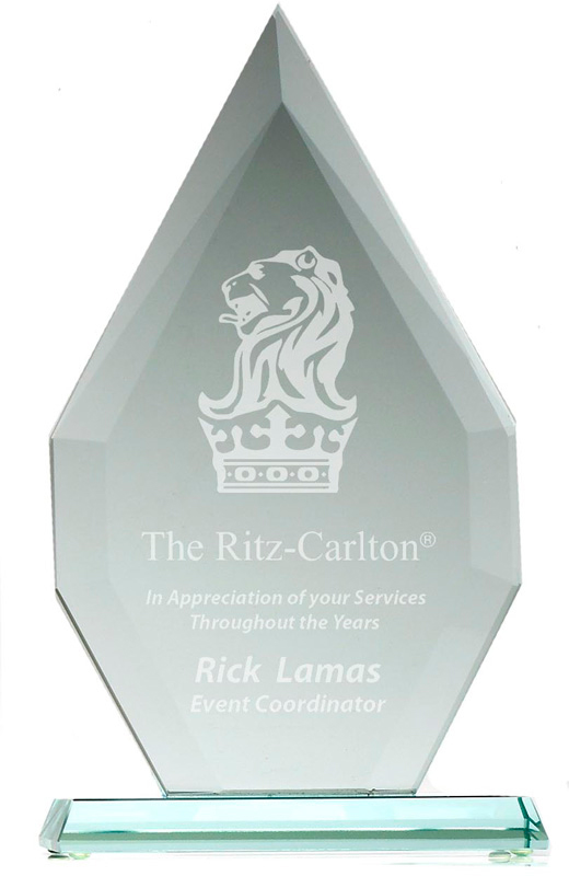 "Flagstaff Heavyweight Jade Glass Award 30.5cm (12"")"