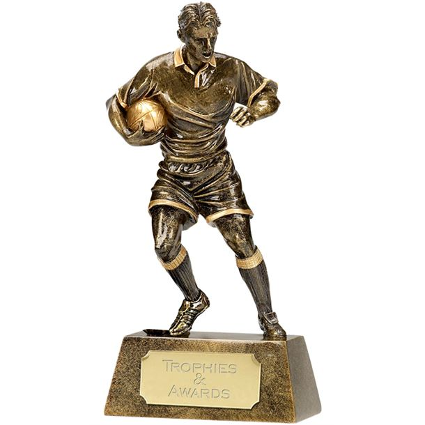 """Resin Rugby Pinnacle Player 22cm (8.75"""")"""
