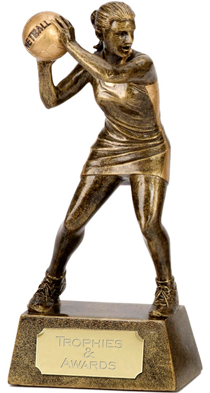 "Netball Player & Ball Trophy 15cm (6"")"
