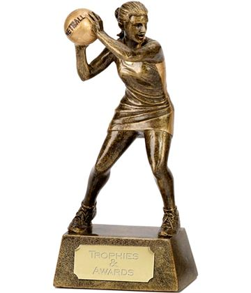 "Netball Player & Ball Trophy 18.5cm (7.25"")"