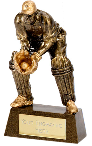 "Gold Wicket Keeper 18.5cm (7.25"")"