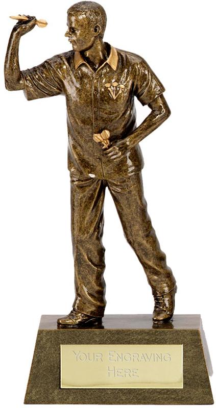 "Antique Gold Dart Man 22cm (8.75"")"