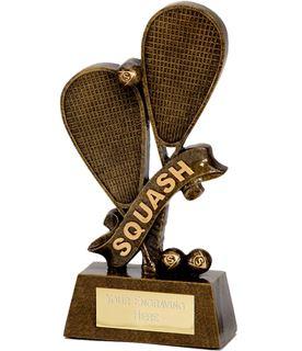 "Squash Rackets & Words Trophy 15cm (6"")"