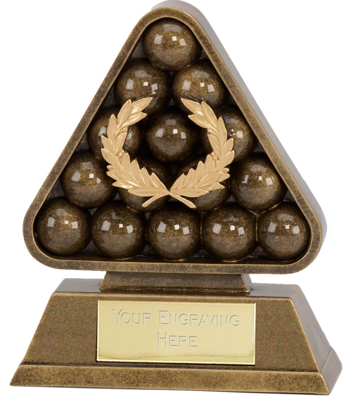 "Antique Gold Paragon Pool / Snooker Award 12cm (4.75"")"