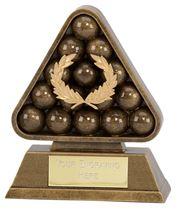 """Antique Gold Paragon Pool / Snooker Award 15cm (6"""")"""