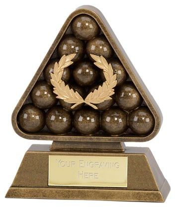 "Antique Gold Paragon Pool / Snooker Award 19cm (7.5"")"