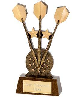 """Gold 3 Darts Award 18.5cm (7.25"""")"""