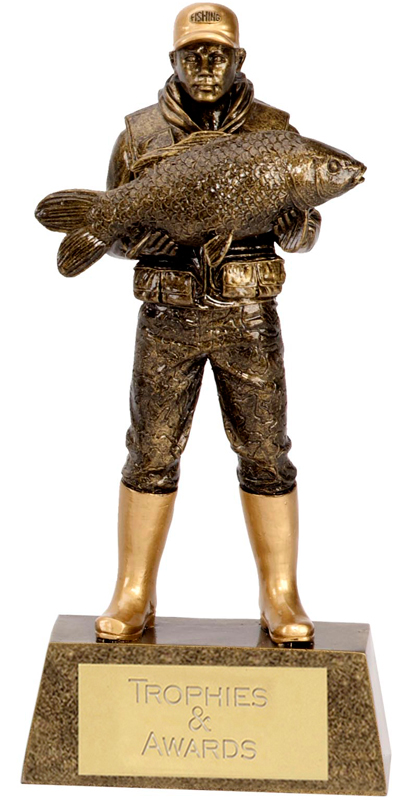 "Antique Gold Fisherman 24cm (9.5"")"