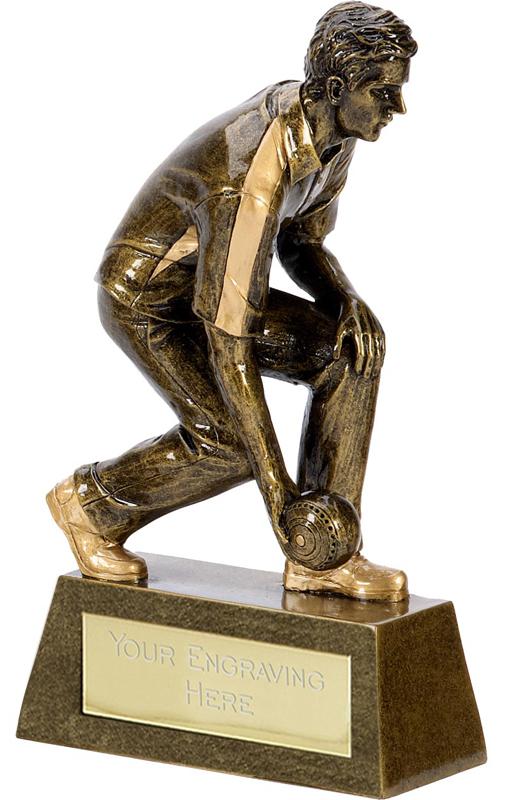 """Pinnacle Resin Male Bowls Trophy 16.5cm (6.5"""")"""