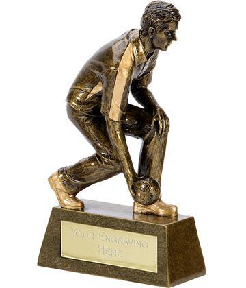 """Pinnacle Resin Male Bowls Trophy 20.5cm (8"""")"""