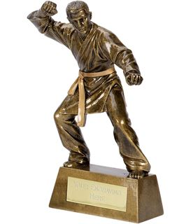"Antique Gold Pinnacle Karate Trophy 20.5cm (8"")"