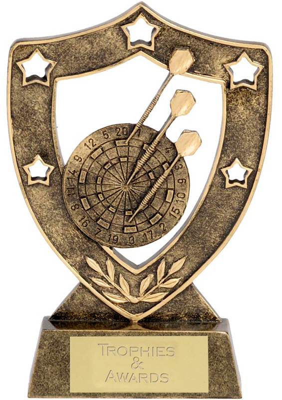 "Antique Gold Darts Shield 15cm (6"")"
