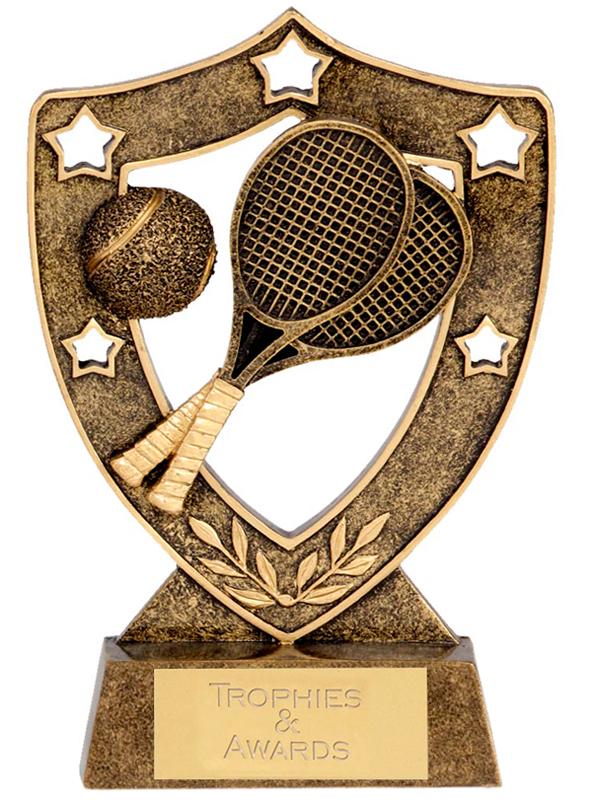 "Tennis Shield with Tennis Rackets 12.5cm (5"")"